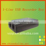 1 line usb telephone recording box,support FSK and DTMF