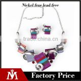 2016 europe exaggerate jewelry sets women wedding pendant necklace and elegant earrings