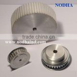 Custom made toothed aluminum timing pulleys