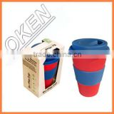 Eco-Friendly Feature and Bamboo fiber Material dessert cup with drinking straws