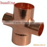 Red Copper 4 Way Cross Water Pipe Fittings
