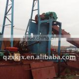 China dismantle bucket chain sand dredger ship for sale