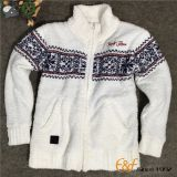 Teen-agers Mock Neck Full Zip Long Sleeves Cardigan Sweater