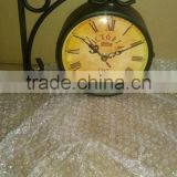metal wall stand fancy clock for sale