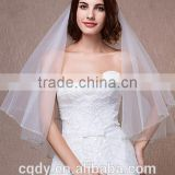 Cheap Bridal Veils In Stock 1 Layer White Ivory Wedding Satin wedding Veils For Wedding Dresses Gowns Bridal Accessories