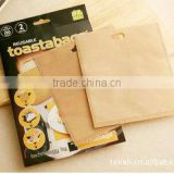As Seen On TV PTFE Reusable Non-stick Bread Bag Fit For Janpanese Market Size 17*19cm
