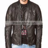 Bike leather jacket hight quality sheep skin slim fit