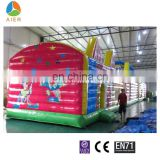 Total Full printing wholesale inflatable clown obstacle course Inflatable clown bouncy castle for sale