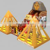 2015 AOQI new design mysterious pharaoh pyramid inflatable combo