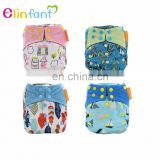 Elinfant heavy wetter bamboo charcoal AIO baby cloth diaper baby resuable diaper manufacturers