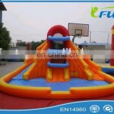giant inflatable water slide with pool inflatable slide with pool