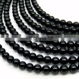 Wholesale loose gemstone beads,6mm black onyx round beads loose beads for jewelry making