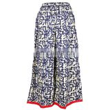 PRINTED LOOSE PANTS FOR FAT WOMEN 2015 COOTON PALAZOO