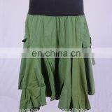 Bohemian Dark Sea Green Hippie Short Skirt & Wrapper HHCS 107 B