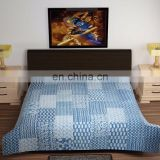 100% pure cotton luxury style designer of Handmade applique patch work Printed Bedsheet