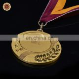Wr Quality 3D Design Art Craft Collectible Gold Foil Metal Medal with Free Ribbon For Awards