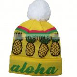 Hot Sale 100% Acrylic Custom Knitted Cuff Beanies with 3D Logo Embroidery