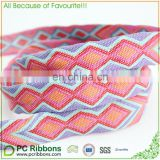 2.5cm Decoration ribbon custom embroidered ribbon jacquard ribbon