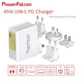 PowerFalcon 45W PD charger / interchangable
