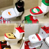 3pcs Fancy Santa Claus Toilet Seat Cover Rug Bathroom Set Contour Rug Christmas Decoration Navidad Xmas Party Supplies
