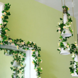 Decorated fake flower vine ivy rattan for interior decoration