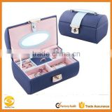 Premium travel cosmetic jewelry case,jewelry travel display cases,small jewelry display storage box