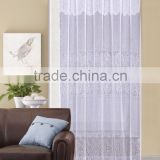 1PC 100% Polyester Flower Voile Beautiful Macrame Embroidery Curtain                                                                         Quality Choice