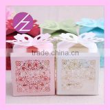 Art and craft wedding decoration laser cut cake decoration wedding favor candy box TH-53