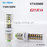 2015 SMD5733 E27 Lampada LED Lamp E14 220V Ampoule LED Bulb E27 110V 127V 30-136LED Luz Bombillas LED Light Lamparas Spotlight