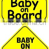 customized plastic baby on board car sign