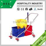 hotel floor bucket cleaning trolley