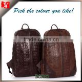 Custom genuine leather backpack vintage crocodile leather backpack bags                                                                         Quality Choice