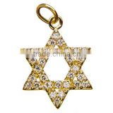 Wholesale vnistar cheap gold star charm DIY pendant necklace charm cheap jewelry accessory size about 20mm TC018