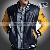high qaulity unique leather varsity jacket custom branded wholesale