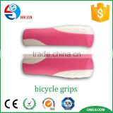 Double colors bike accessories silicone grip Colorful Rubber Available Bicycle Handlebar Grips