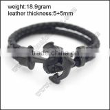 fashion fashion wholesale custom anchor leather bracelet                                                                                                         Supplier's Choice