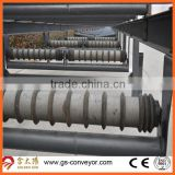 D133mm Screw conveyor roller,Spiral conveyor roller for belt width 1000mm belt conveyor system
