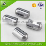Customized tungsten carbide buttons for hard rock button bits