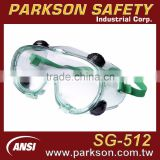 Taiwan Soft PVC Frame Indirect Ventilation Anti Chemical Liquid Eye Protection Goggle ANSI Z87.1 Standard SS-512