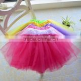 Best Selling Fluffy Kids Red Tutu Skirt For Wholesale