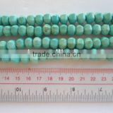 Hot seller blue turquoise pumpkin jewelry beads