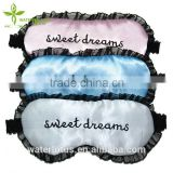hot sale popular silk sleeping collagen eye mask with lace and logos embroidered                                                                         Quality Choice