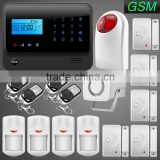 GS-G90E Wireless/Wired App Controlled IOS/Android GSM Black Home Security Alarm System with Wireless Strobe Siren