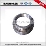 Slewing ring bearing for transmission and gun mounts and ammunition loaders