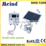 20w portable home solar systems with solar panel & usb charging port, solar lighting                                                                         Quality Choice