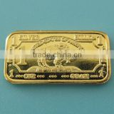 1 Gram 999 Fine Silver Gold Plated Buffalo Bar