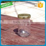 Custom food glass jar with lids high quality clear glass jar for canning honey mason jars