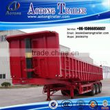 China manufacture large capacity 50T hydraulic tipping trailer for sale