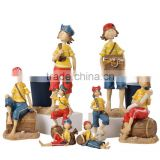 Teenage sailor pirate crafts resin sculpture for home decoration window Bar Garden ornaments