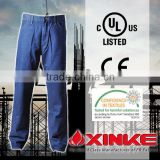 Oil resistant blue wear mens cargo work/workwear trousers jeans with side pockets                                                                         Quality Choice